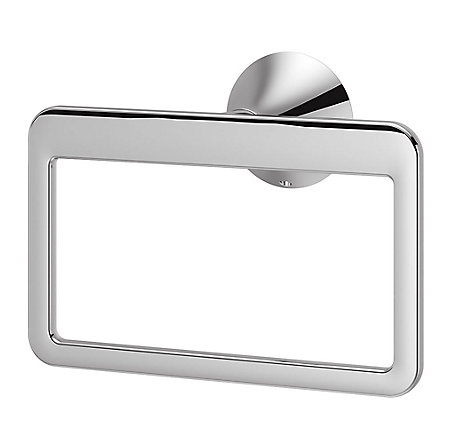 Polished Chrome Brea Towel Ring - BRB-BR0C - 1