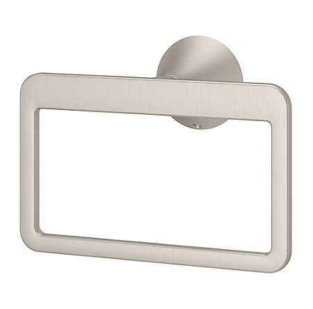 Brushed Nickel Brea Towel Ring - BRB-BR0K - 1