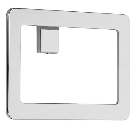 Polished Chrome Modern Towel Ring - BRB-MD1C - 1