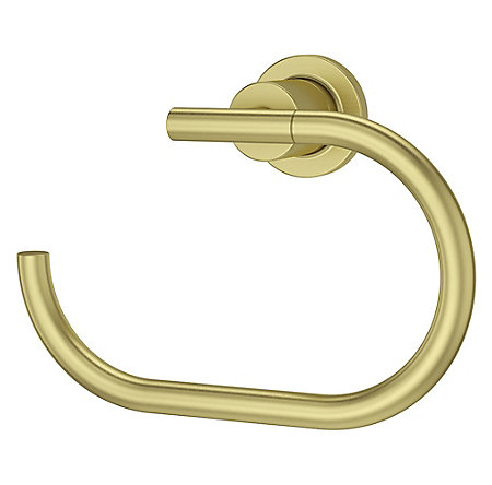 Brushed Gold Contempra Towel Ring - BRB-NC1BG - 1