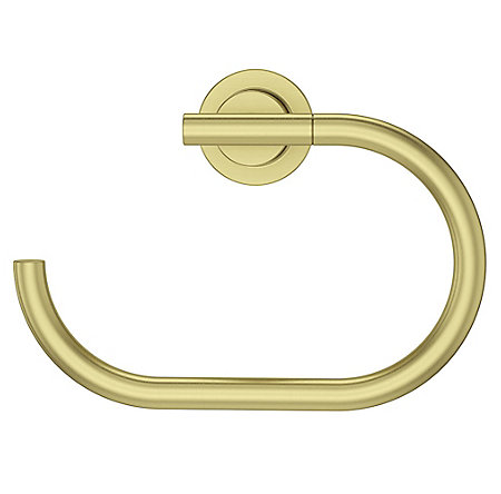 Brushed Gold Contempra Towel Ring - BRB-NC1BG - 2