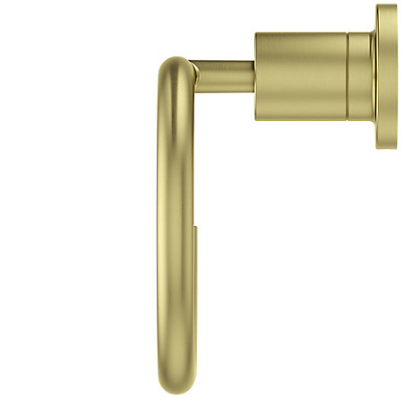 Brushed Gold Contempra Towel Ring - BRB-NC1BG - 3