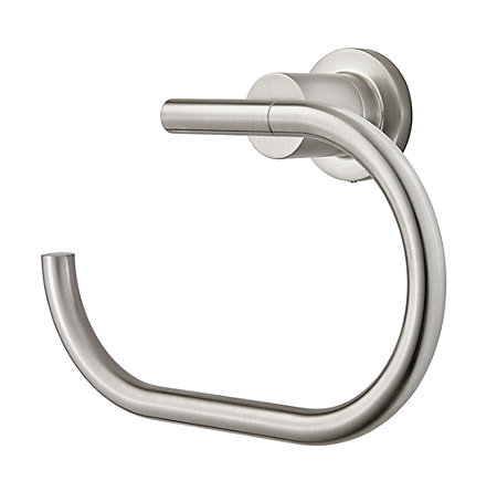 Brushed Nickel Contempra Towel Ring - BRB-NC1K - 1