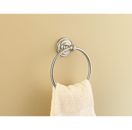 Brushed Nickel Redmond Towel Ring - BRB-R0KK - 2