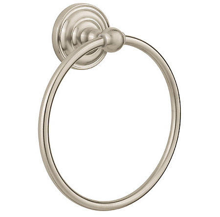 Brushed Nickel Redmond Towel Ring - BRB-R0KK - 1