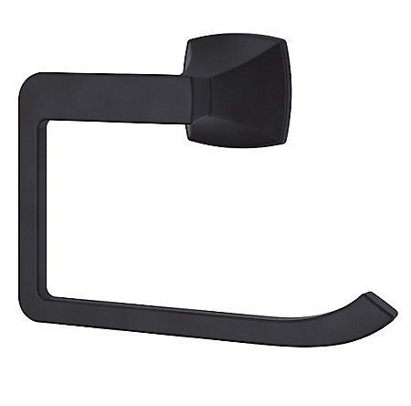 Black Venturi Towel Ring - BRB-VN0B - 1