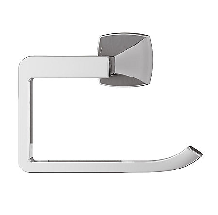 Polished Chrome Venturi Towel Ring - BRB-VN0C - 2