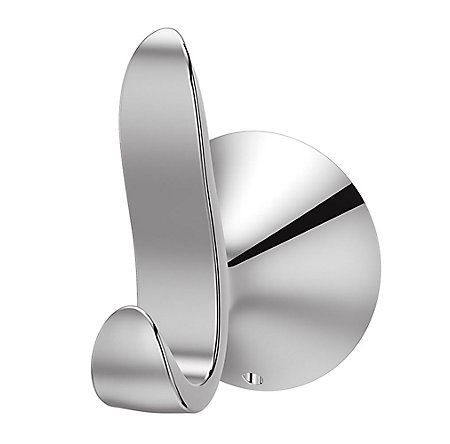 Polished Chrome Brea Robe Hook - BRH-BR0C - 1