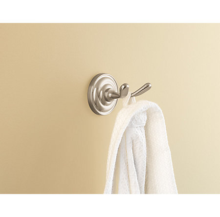 Brushed Nickel Redmond Robe Hook - BRH-R0KK - 2