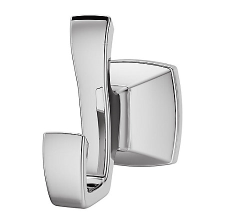 Polished Chrome Venturi Robe Hook - BRH-VN0C - 1