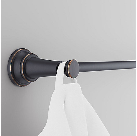 "Tuscan Bronze Renato 18"" Towel Bar with Invisihook - BTB-UH1Y - 3"