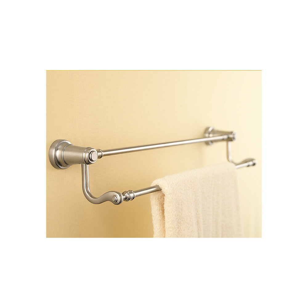 Brushed Nickel Ashfield Double Towel Bar - BTB-YP5K | Pfister Faucets