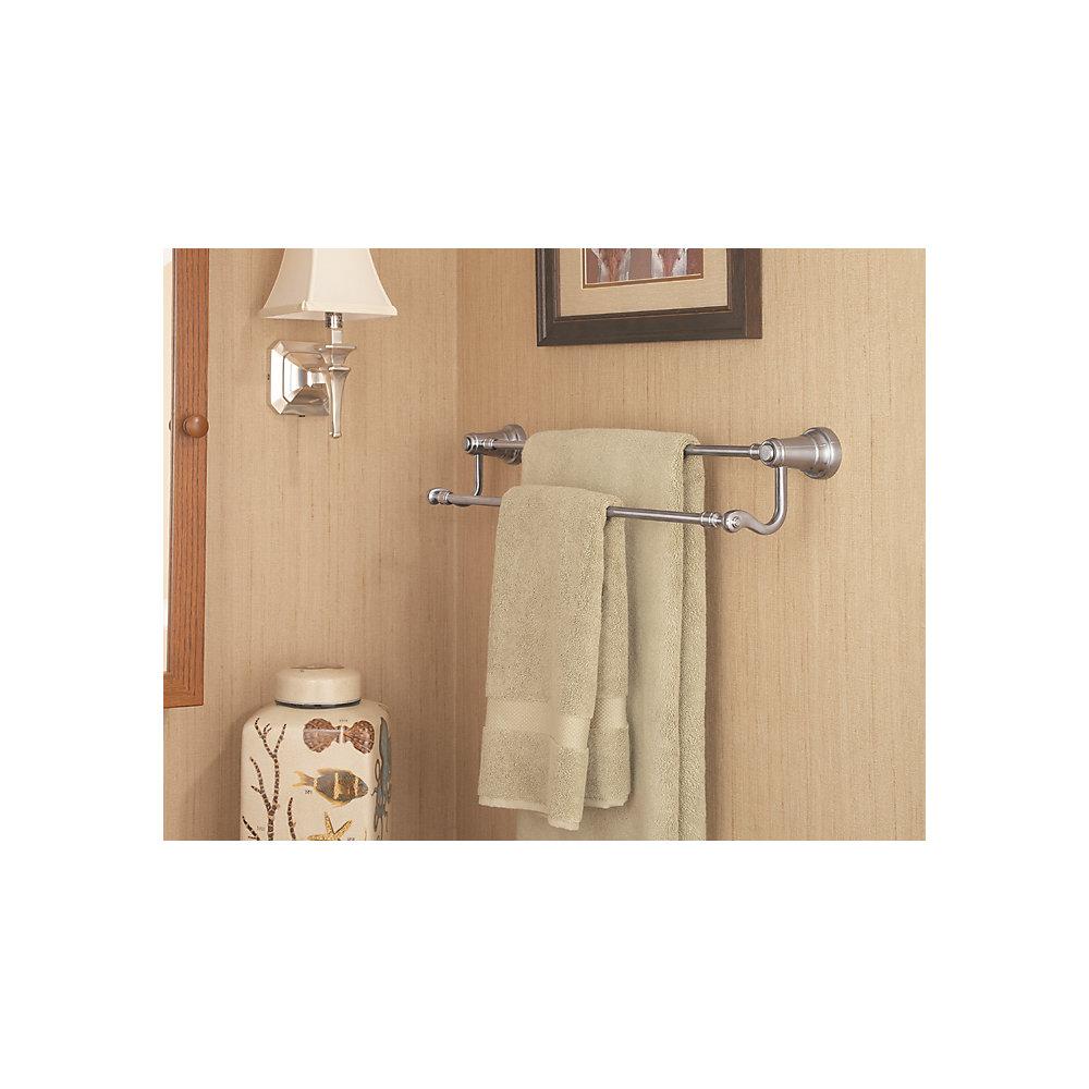 Brushed Nickel Ashfield Double Towel Bar Btb Yp5k 3