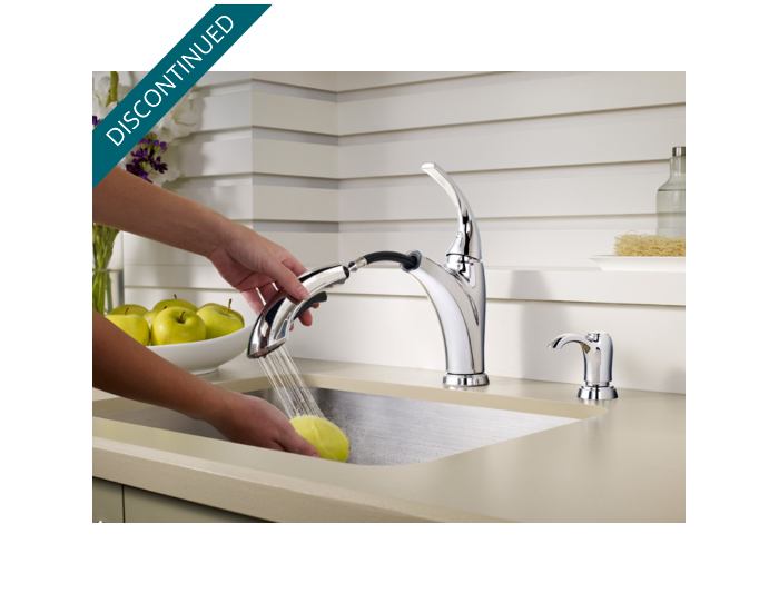 Polished Chrome Selia 1-Handle, Pull-Out Kitchen Faucet - F-534 ...