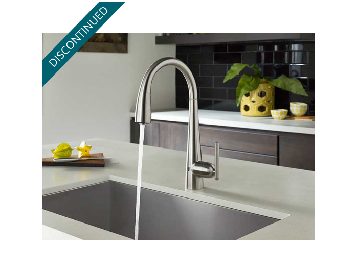 Stainless Steel Lita Touch-Free Pull-Down Kitchen Faucet With React ...