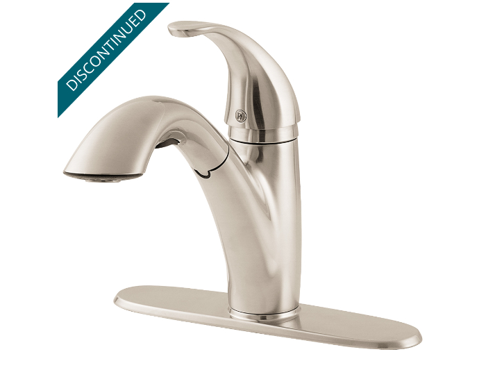 Stainless Steel Parisa 1-Handle, Pull-Out Kitchen Faucet - GT534-7SS ...