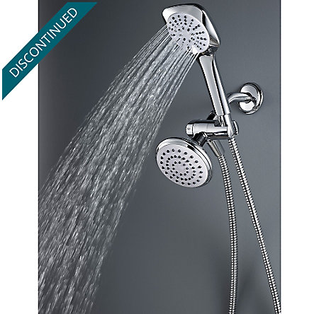 Polished Chrome Kaylon Handshower and Showerhead Combo - 020-WHCH - 5