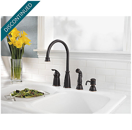 Tuscan Bronze Avalon 1-Handle Kitchen Faucet - 026-4CBY - 2