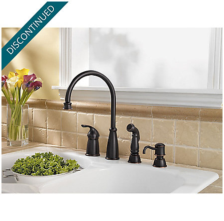 Tuscan Bronze Avalon 1-Handle Kitchen Faucet - 026-4CBY - 3