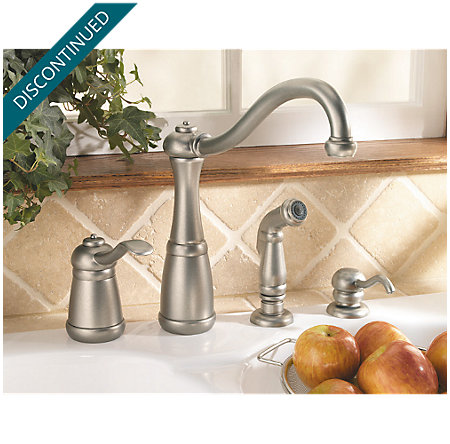 Rustic Pewter Marielle 1-Handle Kitchen Faucet - 026-4NEE - 2