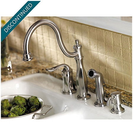 Stainless Steel Cadenza 1-Handle Kitchen Faucet - 026-4TWS - 4