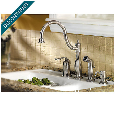 Stainless Steel Cadenza 1-Handle Kitchen Faucet - 026-4TWS - 6