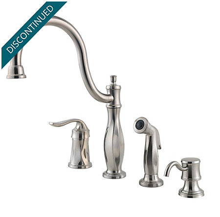 Stainless Steel Cadenza 1-Handle Kitchen Faucet - 026-4TWS - 1