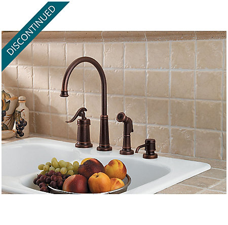 Rustic Bronze Ashfield 1-Handle Kitchen Faucet - 026-4YPU - 2