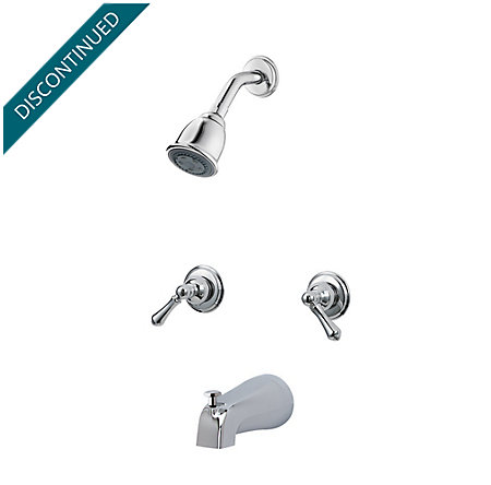 Polished Chrome Pfister Series 2-Handle Tub & Shower, Trim Only - 03-81BC - 1