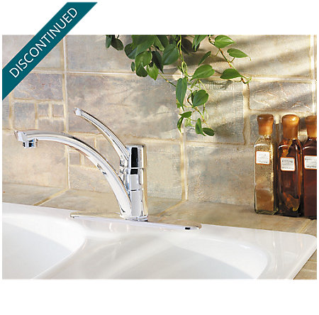 Polished Chrome Parisa 1-Handle, Pull-Out Kitchen Faucet - J34-1NCC - 2