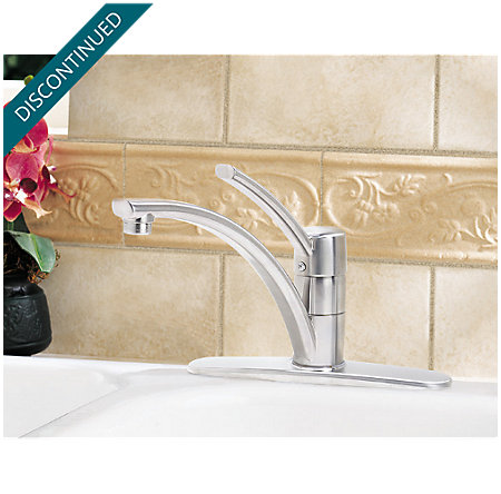 Stainless Steel Parisa 1-Handle Kitchen Faucet - 034-1NSS - 2