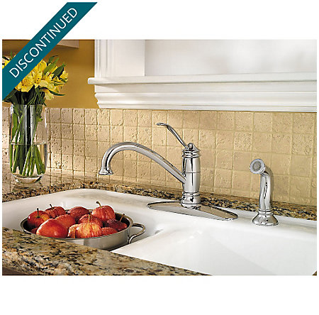 Polished Chrome Brookwood 1-Handle Kitchen Faucet - 034-4ALC - 2