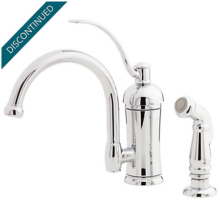 Polished Chrome Amherst 1-Handle Kitchen Faucet - 034-4HAC - 1
