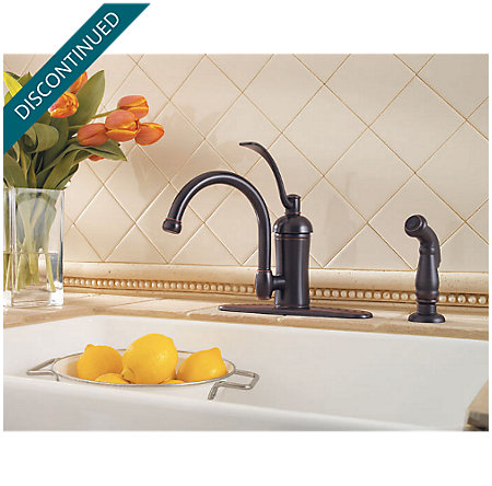 Tuscan Bronze Amherst 1-Handle Kitchen Faucet - 034-4HAY - 4