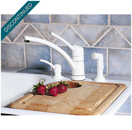 White Parisa 1-Handle Kitchen Faucet - 039-PNWW - 2