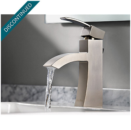 Brushed Nickel Bernini Single Control, Centerset Bath Faucet - 042-BNKK - 8