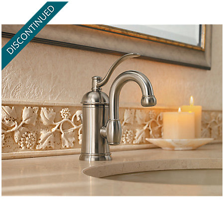 Brushed Nickel Amherst Single Control, Centerset Bath Faucet - 042-HAK0 - 3