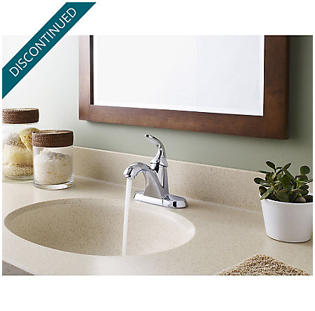 Polished Chrome Pasadena Single Control, Centerset Bath Faucet - F-042-PDCC - 3