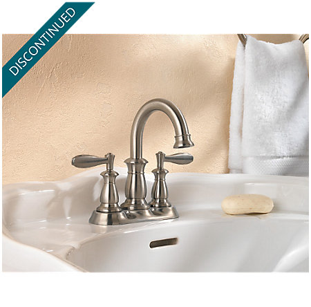Brushed Nickel Langston Centerset Bath Faucet - 043-LN0K - 2