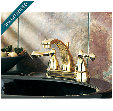 Polished Brass Parisa Centerset Bath Faucet - 048-A0XP - 3