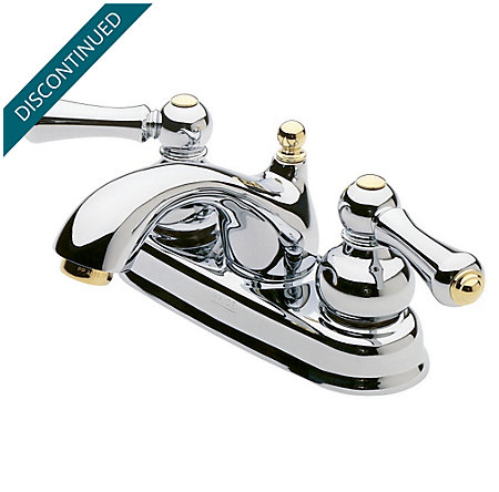 Polished Chrome / Polished Brass Georgetown Centerset Bath Faucet - 048-BXMB - 1