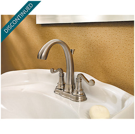 Brushed Nickel Falsetto Centerset Bath Faucet - 048-FLKK - 2