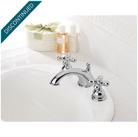 Polished Chrome Georgetown Widespread Bath Faucet - 049-B0XC - 2