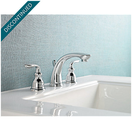 Polished Chrome Avalon Widespread Bath Faucet - 049-CB0C - 2