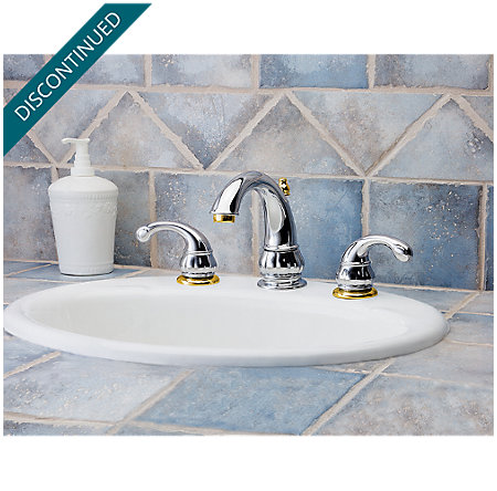 Polished Chrome / Polished Brass Treviso Widespread Bath Faucet - 049-DB00 - 2
