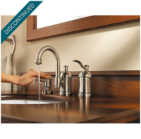 Brushed Nickel Amherst Widespread Bath Faucet - 049-HA1K - 2