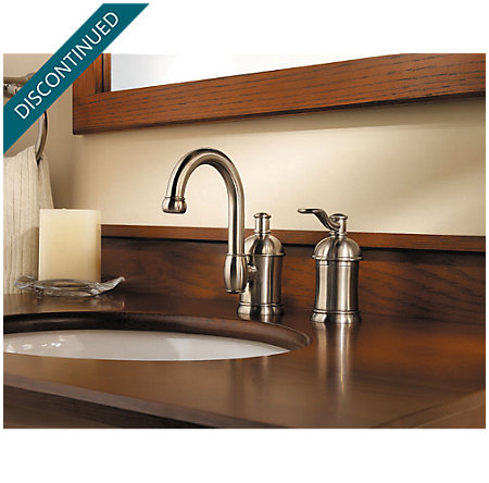 Brushed Nickel Amherst Widespread Bath Faucet - 049-HA1K - 4