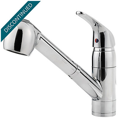 Polished Chrome Pfirst Series 1-Handle, Pull-out Kitchen Faucet - 133-10CC - 1