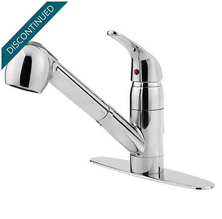 Polished Chrome Pfirst Series 1-Handle, Pull-out Kitchen Faucet - 133-10CC - 2
