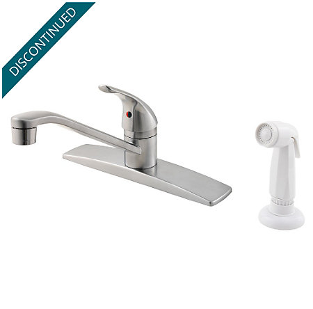 Stainless Steel Pfirst Series 1-Handle Kitchen Faucet - 134-444S - 1
